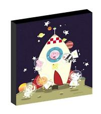 PEPPA AND GEORGE PIG space CANVAS PICTURE