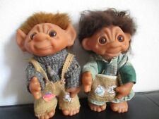 2 x Troll Trolle Mann und Frau 23 cm Thomas Dam 1977 Denmark