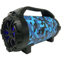 Blackmore Portable Amplified Bluetooth Speaker - Blue Camo