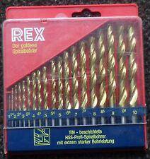 13 Stück 1,5-6,5mm HSS High Speed Spiralbohrer Kunststoff Holz Metall Metric XY