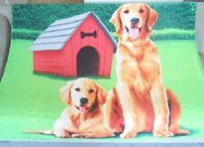 New Soft Golden Retriever Fleece Throw Gift Blanket Puppy Show Dog Breed Novelty