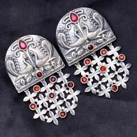 Indian Earrings Designer Drop Dangle Traditional Women Silver Plated Jewelry