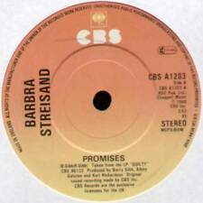 "[BEE GEES] BARBRA STREISAND ~ PROMISES / NEVER GIVE UP ~ 1980 UK 7"" SINGLE"