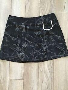 Jamie Sadock Actif Golf Tennis Skort With Shorts Black Gray Stretchy Sz M GUC