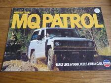 Datsun Mq patrulla folleto, Australia, 1981 mi