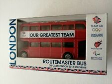 CORGI ROUTE MASTER TEAM BUS GB DIE CAST LONDON OLYMPIC 2012 BRAND NEW BOXED.