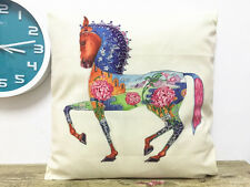 1x simple painting horse home decoration sofa cushion sleeve pillow case 18X18