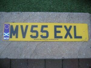 GREAT BRITAIN SCOTLAND ABERDEEN EUROSTARS & COUNTRY FLAG #MV55 EXL LICENCE PLATE
