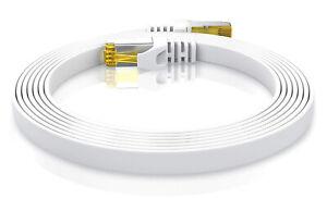 Câble rj45 cat 7 extra plat câbles ethernet 0,25m à 30m compatibles cat 5 cat 6