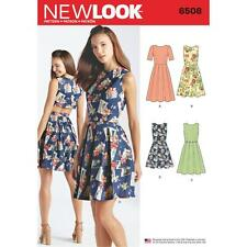NEW LOOK sewing pattern Misses'S Robe ouverte ou fermée dos variations 10-22 6508