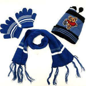 Boy's Sport Kid's Warm Winter Beanie Hat Scarf Glove Set (3 Piece) 2-5 Year Old
