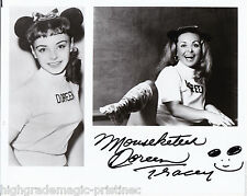 DOREEN TRACEY AUTOGRAPH SIGNED 8X10 ORIGINAL MOUSKETEER MICKEY MOUSE CLUB 50'S