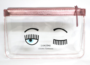 NEW Lancome x Chiara Ferragni Limited Edition Clear Makeup Bag | NEW FREE SHIPP!