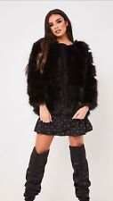 New Fashion Ladies Womens Faux Fur Coat jacket Winter size small to medium 8-10