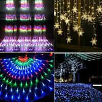 LED Curtain Fairy Lights Waterfall Icicle Wedding In/Outdoor Xmas Garden Party