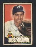 1952 Topps #90 Mickey Grasso VG/VGEX Senators 108883