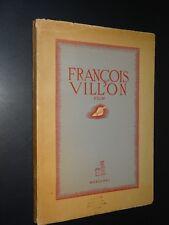 FRANÇOIS  VILLON - FILM - Pierre Mac Orlan - 1945
