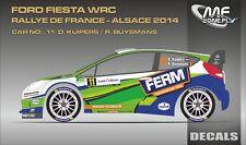 DECALS 1/43 FORD FIESTA WRC #11- KUIPERS - RALLYE DE FRANCE 2014 -MF-ZONE D43357