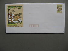FRANCE, ill.prestamped cover 1995, mint, La Fontaine turtle hare