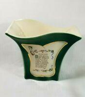 "Vintage Royal Copley Vase The Lord's Prayer Art Deco ~ Ohio USA Pottery 6""h"