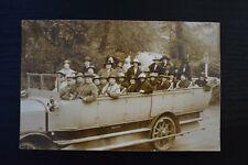 More details for postcard charabanc vintage motor vehicle transport unposted real photo rp