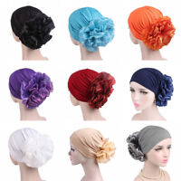 Ladies's Muslim Flower Turban Hat Elastic Bonnet Chemo Cap Head Scarf Headdress