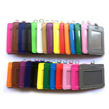 ID Badge Card Holder PU Leather Clip Case Office Work Name Case**