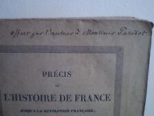 Jules MICHELET : Prècis de l'histoire de France. E. O. 1833, EX-DONO AUTOGRAPHE