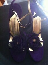 Authentic Rare Dolce & Gabanna Purple Rose Suede Shoes.