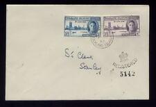 FALKLAND ISLANDS 1946 VICTORY Set FDC CROWN HANDSTAMP REGISTERED