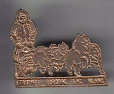 RARE PINS PIN'S .. SPORT HIVER CHIEN DOG HUSKY TRAINEAU POLKA LAC BLANC 68 ~CX