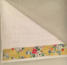 JOHN LEWIS FACE CLOTH TRIMMED WITH CATH KIDSTON CLIFTON ROSE YELLOW 30x30CM