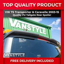 VW T5 TRANSPORTER REAR TAILGATE SPOILER SPORTLINE STYLE PU NOT CHEAP FIBREGLASS