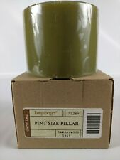 Longaberger Pint Size Pillar Scented Candle Sandalwood Sage Nib
