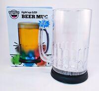 LED Color Flashing Beer Mug 3 Color Modes 24 oz Great Gift Cup - SHIPS FREE