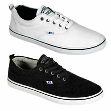 Mens Canvas Pumps Lace Up Plimsolls Trainers Gym Shoes Casual Sneakers