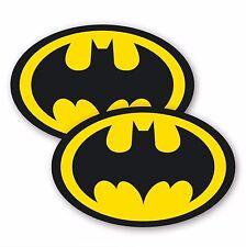 2x Batman Logo Adesivi Vinile Auto Adesivo Moto Skateboard adesivi