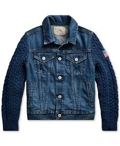 NWT Ralph Lauren Polo Girls Hybrid Denim Trucker Jacket