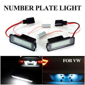 2pcs LED Number License Plate Light Lamp For VW GOLF MK4 MK5 MK6 MK7 Seat