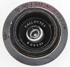 Dallmeyer 17mm f1.5 Wide Angle Speed Anastigmat C mount  #193639