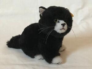 Steiff Black Cat with white markings