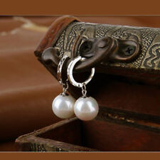 925Silver Plated Pearl Dangle Earrings Fashion New Hot Women Ear Studs Jewelry t