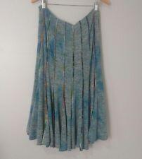 ALBERTO MAKALI Women's Skirt Size 10 Blue Tie Dye Stretchy A-line