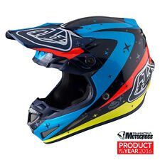 Troy Lee Designs SE4 Full Carbon Twilight Adult Small Mx Helmet TLD Motocross