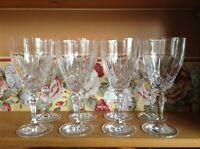 8 top quality crystal elegant wine beverage goblets glasses