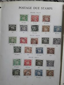 Great britain postage due stamps