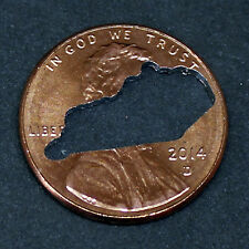 Lucky penny with Kentucky cut out