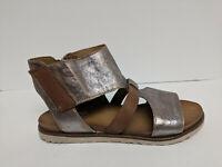 Miz Mooz Tamsyn Ankle Strap Sandals, Nickel, Womens 8.5-9 US (EU 39)