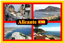 ALICANTE, SPAIN - SOUVENIR NOVELTY FRIDGE MAGNET - SIGHTS / FLAG - NEW / GIFT