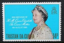 TRISTAN DA CUNHA 1980 Queen Mother. Set of 1. Mint Never Hinged. SG282.